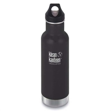 KLEAN KANTEEN 20Oz insulated Classic Loop Cap Shale Black-water-Mitchells Adventure