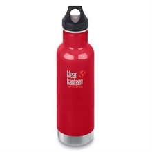 KLEAN KANTEEN 20Oz insulated Classic Loop Mineral Red-water-Mitchells Adventure