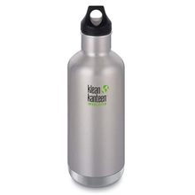 KLEAN KANTEEN 32Oz insulated Classic Loop Brushed Stainless-water-Mitchells Adventure