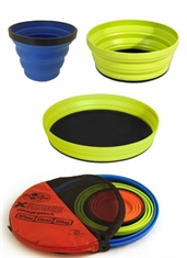 X-SET 3PC - X-MUG X-BOWL X-PLATE & POUCH-to-eat-with-Mitchells Adventure