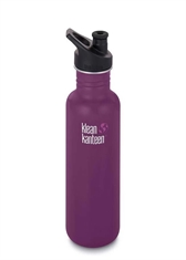 KLEAN KANTEEN 27Oz Classic Sport Cap Winter Plum-water-Mitchells Adventure