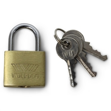 WOLFDOG Box of 12 - 25mm Brass Padlocks -locks-Mitchells Adventure