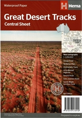 HEMA Great Desert Tracks Central Map-outdoor-adventure-maps-Mitchells Adventure