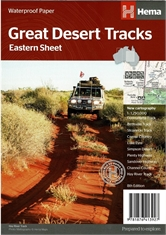 Great Desert Tracks Eastern Map-outdoor-adventure-maps-Mitchells Adventure