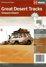 Great Desert Tracks Simpson Desert Map-outdoor-adventure-maps-Mitchells Adventure