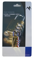 3 DIAL COMBO LOCK BRASS-locks-Mitchells Adventure