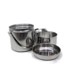 3 Layer Stainless Billy-camping-pots-and-pans-Mitchells Adventure