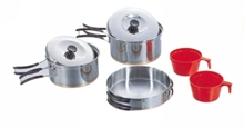 2-PERSON COOKSET STAINLESS STEEL COPPER BASE-to-cook-in-Mitchells Adventure