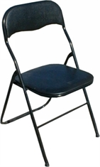 CHAIR FOLDING BLACK VINYL-chairs-Mitchells Adventure