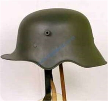 WWI GERMAN M-18 CUT-OUT HELMET-collectable-Mitchells Adventure