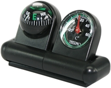 CAR COMPASS with THERMOMETER-compasses-Mitchells Adventure
