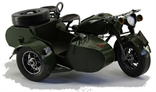 MODEL MOTORBIKE with SIDECAR-collectable-Mitchells Adventure