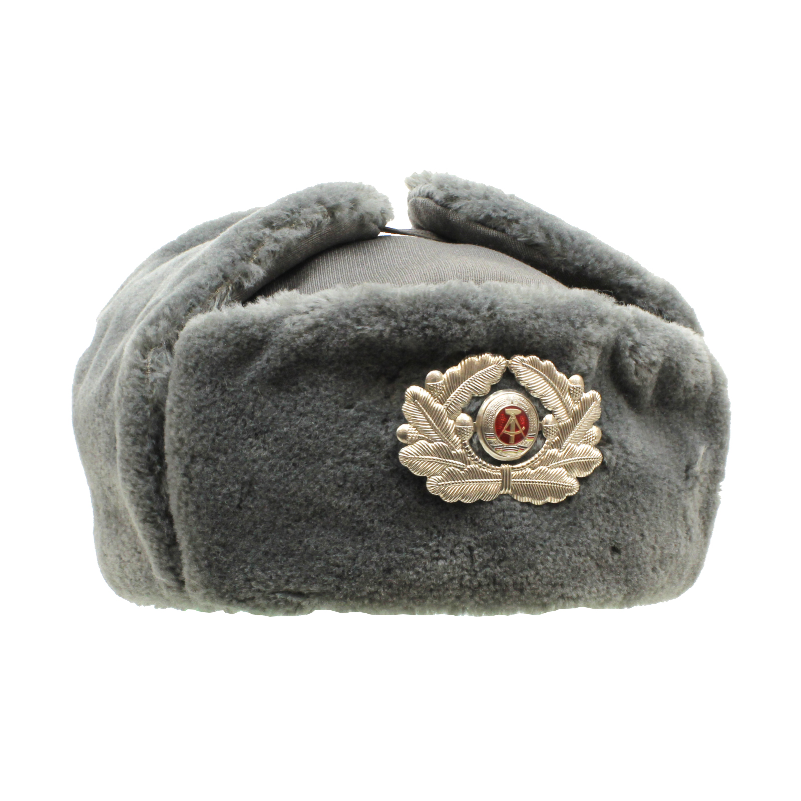 EAST GERMAN FUR HAT OFFICER - MILITARY SURPLUS WINTER   CLOTHING ... 6b1c13ac938