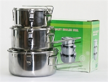 STAINLESS STEEL LUNCH BOX SET-to-cook-in-Mitchells Adventure