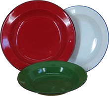 22cm ENANEL SOUP PLATE ASSORTED COLOURS-to-eat-with-Mitchells Adventure