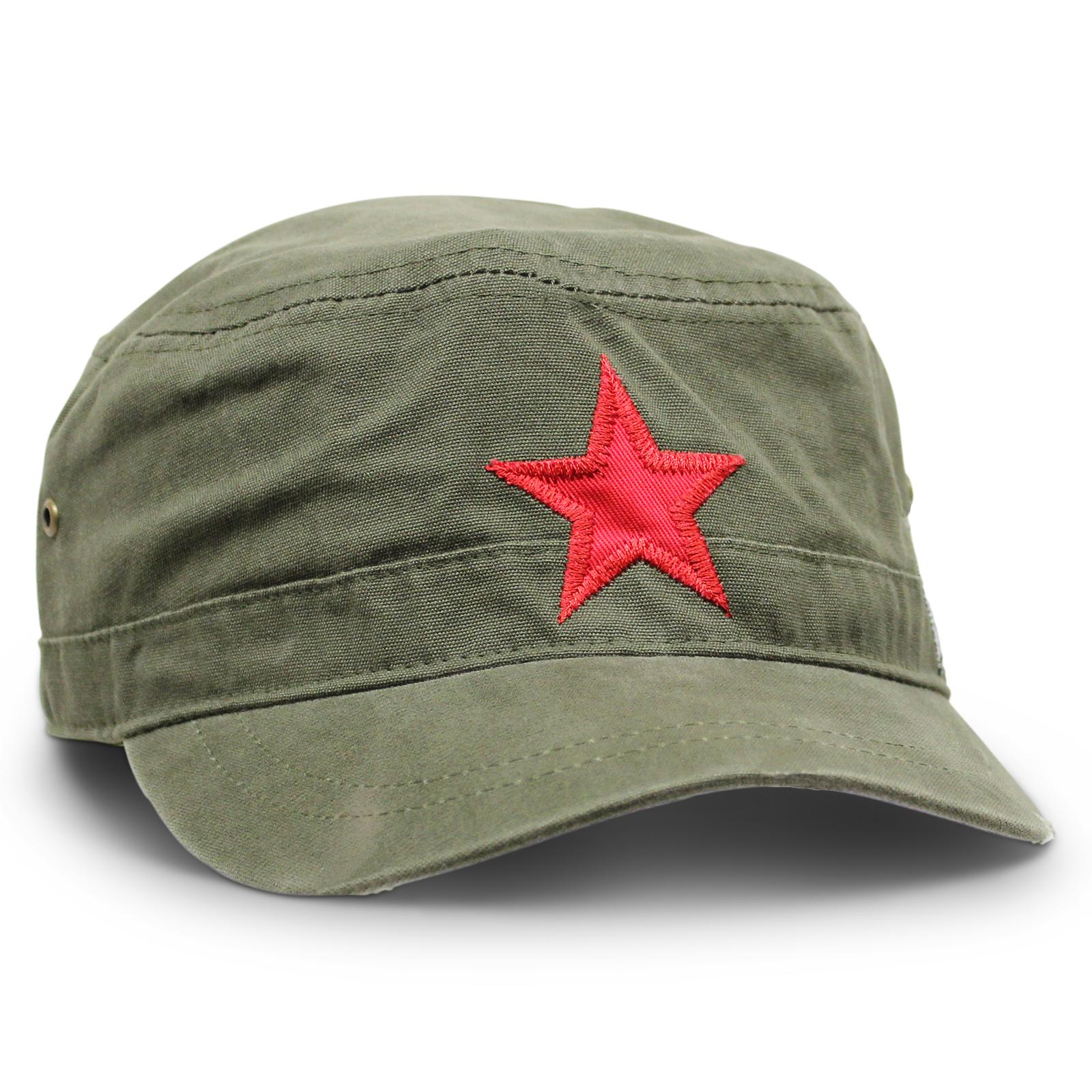 c61f169b77091 Red Star Hat - Olive - CLOTHING-Hats - Headwear-Summer   Mitchells ...