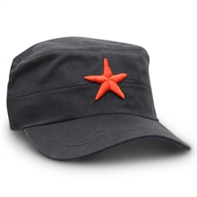 RED STAR HAT - BLACK-summer-Mitchells Adventure