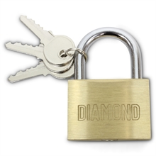 50mm BRASS PADLOCK-locks-Mitchells Adventure