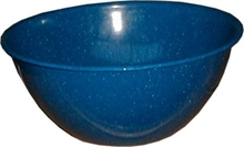 24cm BLUE ENAMEL FINGER BOWL-to-eat-with-Mitchells Adventure