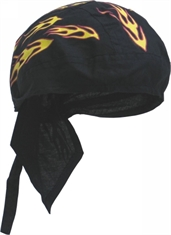 BANDANNA CAP YELLOW FLAMES-summer-Mitchells Adventure