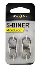 MICROLOCK STEEL S-BINER - 2 PACK STAINLESS-assorted-Mitchells Adventure