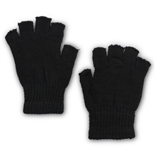 FINGERLESS ACRYLIC GLOVE-HALF BLACK-gloves-Mitchells Adventure