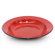 26cm ENAMEL SOUP PLATE ASSORTED COLOURS-to-eat-with-Mitchells Adventure