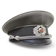 E-GERMAN VISOR HAT OFFICER-hats-Mitchells Adventure