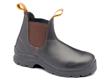BLUNDSTONE 311 Brown Waxy Elastic Steel-Toe Boot-ankle-boots-Mitchells Adventure