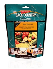 BACK COUNTRY CUISINE Beef Teriyaki Single - Gluten Free-back-country-Mitchells Adventure