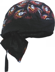 BANDANNA CAP SKULL AND FLAMES-summer-Mitchells Adventure