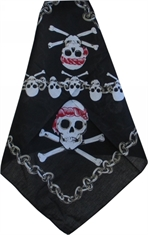 OUTBOUND Bandanna Skull And Bones With Chain-summer-hats-and-caps-Mitchells Adventure