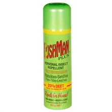 BUSHMAN 350G Aerosol Green Deet-20 With Sunscreen-mosquito-nets-and-repelants-Mitchells Adventure