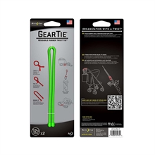 "GEAR TIE 12""- 2 PACK - LIME-assorted-Mitchells Adventure"