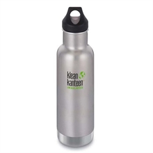 KLEAN KANTEEN 20Oz insulated Classic Loop Cap Brushed Stainless-water-bottles-Mitchells Adventure