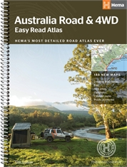 AUSTRALIA EASY READ ROAD & 4WD ATLAS-books-Mitchells Adventure
