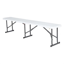 LIFETIME 6' BLOW MOULD FOLD IN HALF BENCH-chairs-Mitchells Adventure