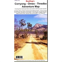 CORRYONG-OMEO-THREDBO 1;100000 MAP-maps-Mitchells Adventure