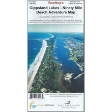 GIPPSLAND LAKES-NINETY MILE BEACH ADVENTURE MAP-maps-Mitchells Adventure