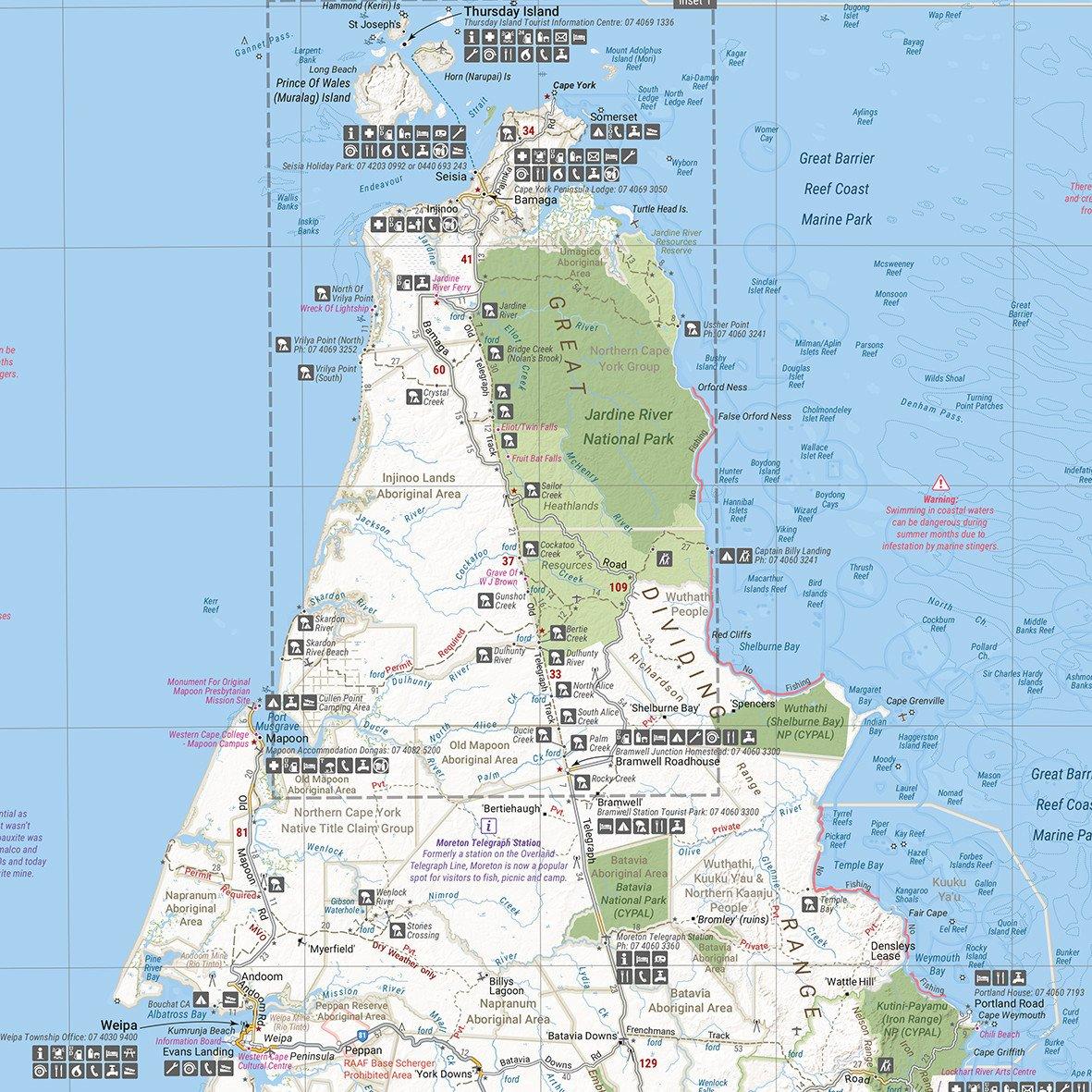 HEMA Hema Cape York Map