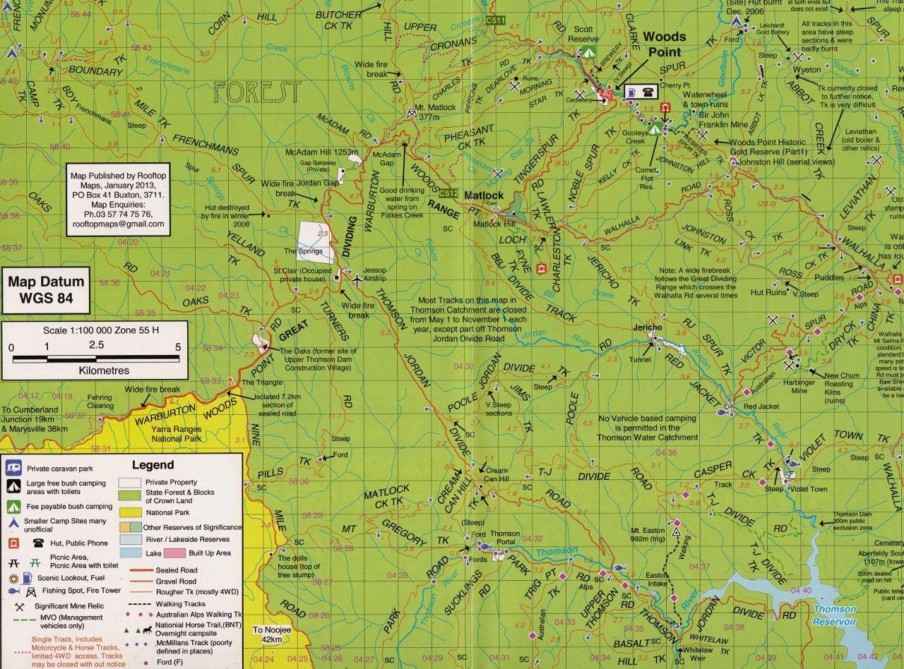 ROOFTOPS MAP Jamieson-Licola Adventure Map